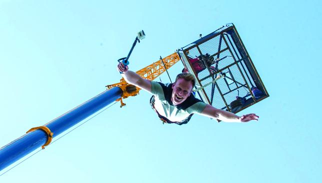 Extreme 300 Bungee Jumps takes place at Dubai Kartdrome, Motor City
