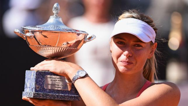Sharapova secures her third Italian Open crown.
