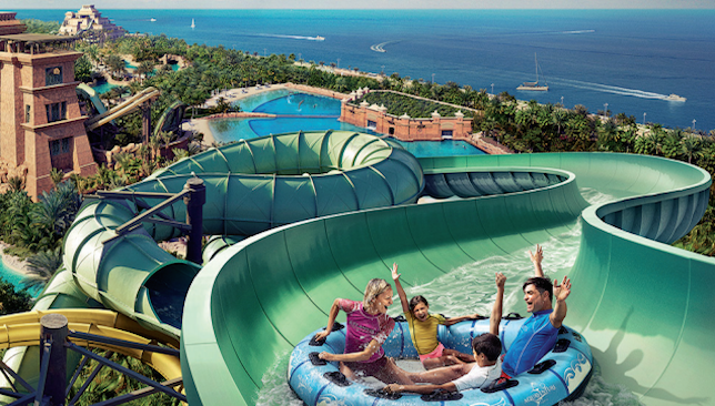 Going Out Cool Off At Aquaventure Waterpark In Atlantis