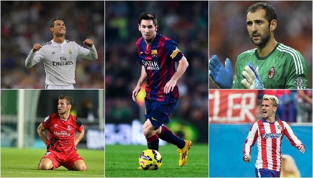 Lionel Messi and Cristiano Ronaldo lead an impressive La Liga team of the year.