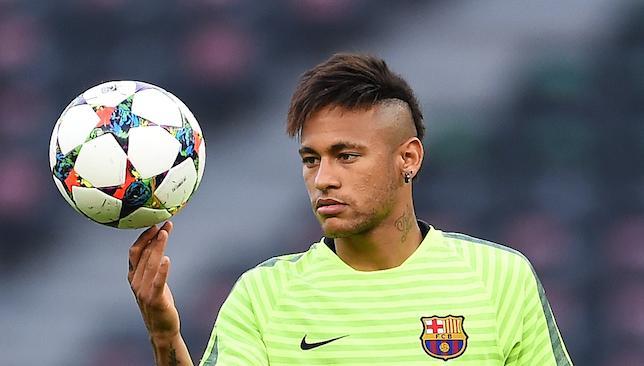 Focused: Neymar.