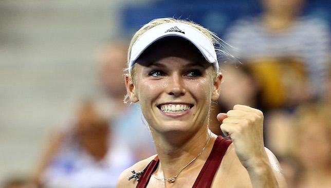 Progressing: Wozniacki.