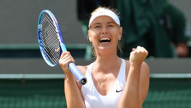 Delight: Sharapova.
