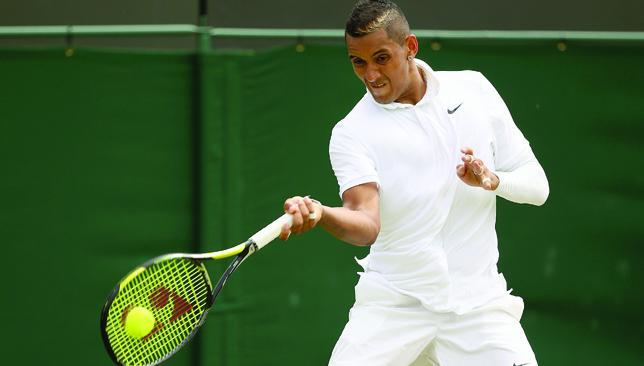Tempestuous talent: Nick Kyrgios' antics have divided opinion at Wimbledon.