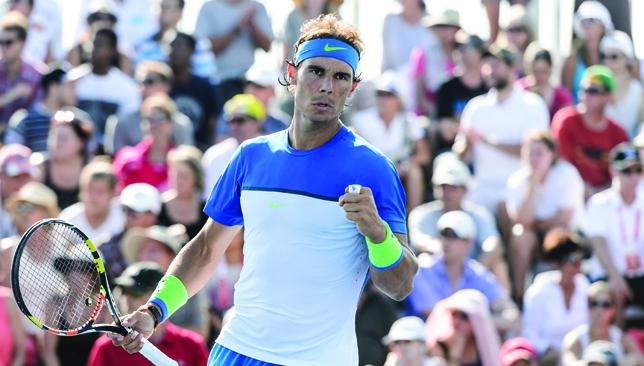 Allez: Nadal has won the Rogers Cup on three previous occasions.