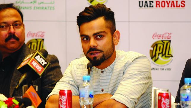 Different strokes: Virat Kohli was in Dubai as co-owner of IPTL franchise UAE Royals.