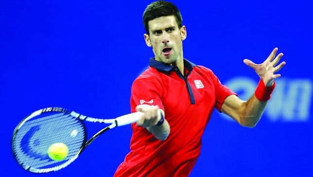 Ready for action: Djokovic swept through the competition in Beijing.