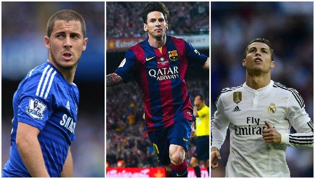Lionel Messi & Eden Hazard top Cristiano Ronaldo in the list.