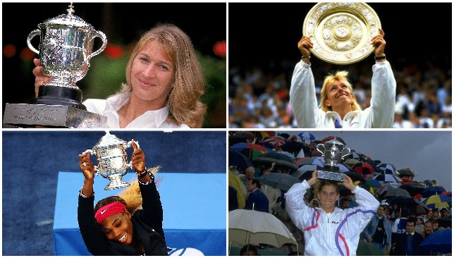 Serena Williams levelled Steffi Graf's record.
